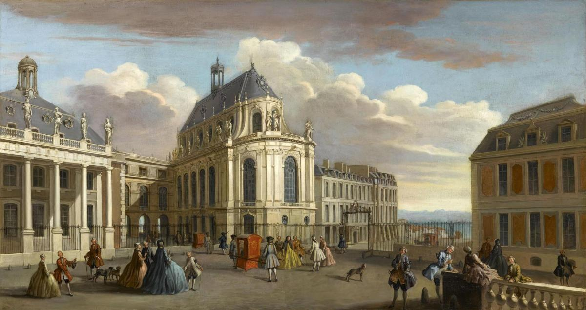 An original paiting of the Royal Chapel in Chateau of Versailles