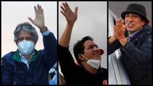 São 16 candidatos, mas apenas três têm números expressivos:  o candidato liberal e conservador, Guillermo Lasso,pela esquerda, Andrés Arauz e o candidato Yaku Pérez  indígena e ecologista.