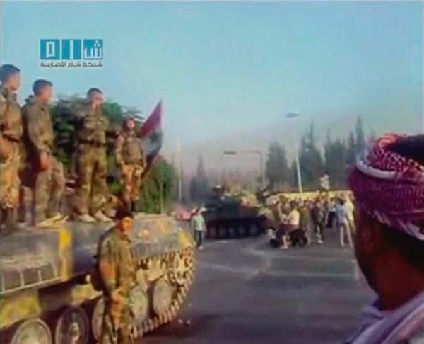تصویرویدئویی – یکشنبه سی و یکم ژوئیه ٢٠١١ ، حمله ارتش سوریه با تانک به شهر حماء