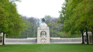 Le Mémorial National Sud-Africain de Longueval dans la Somme.