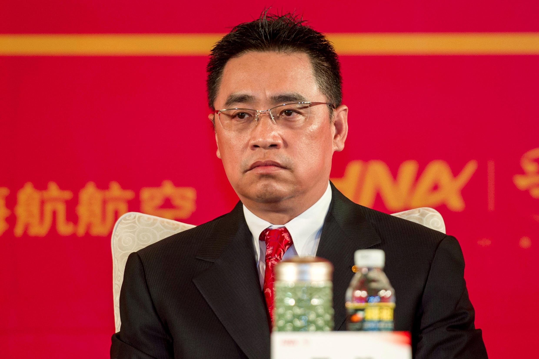 海航董事长王健2013年4月28日在海航集团成立20周年大会上。