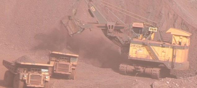Une mine appartenant à la Société minière industrielle de Mauritanie, la SNIM.