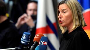 Lãnh đạo Ngoại Giao Liên Hiệp Châu Âu Federica Mogherini tại Hội nghị Á-Âu ASEM tại Buxelles, Bỉ ngày 18/10/2018.