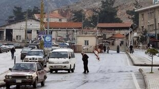 La frontière entre la Syrie et le Liban, à Masnaa, le 5 janvier 2015.