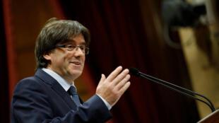 Carles Puigdémont, le chef de l'exécutif catalan affirme que « le référendum est plus que jamais irréversible ».
