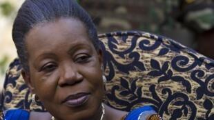 Catherine Samba-Panza, la  présidente centrafricaine de transition.