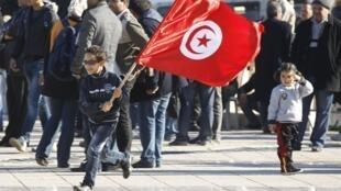 Quinto aniversário da revolução tunisiana. 17 de dezembro de 2015.