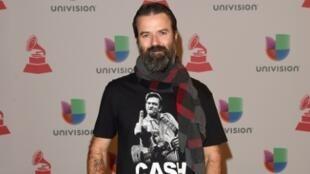 El cantante del grupo español Jarabe de Palo, Pau Donés, en la ceremonia de entrega de los premios Grammy en Las Vegas, el 20 de noviembre de 2014.