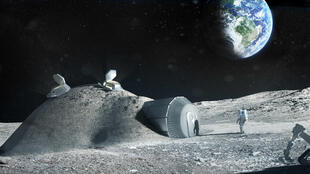 Base lunaire construite par impression 3D - projet ESA  Lune 2025.
