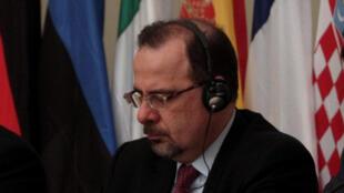 Luca Jahier lors d'une Conférence du Comité économique et social européen, le 20 mars 2014