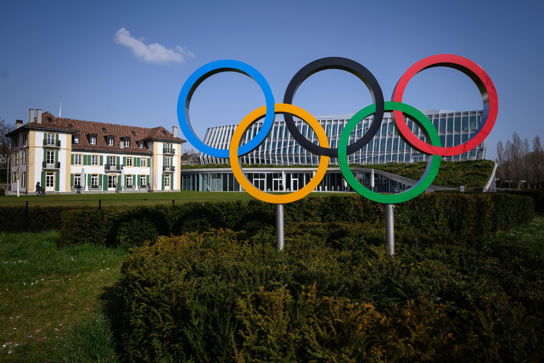 Le siège du CIO à Lausanne, le 21 mars 2020