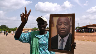 Un militant pro-Gbagbo, à Mama, le 30 avril 2015 (photo d'illustration).