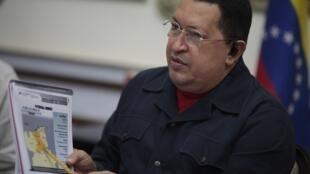 Presidente venezuelano, Hugo Chávez.
