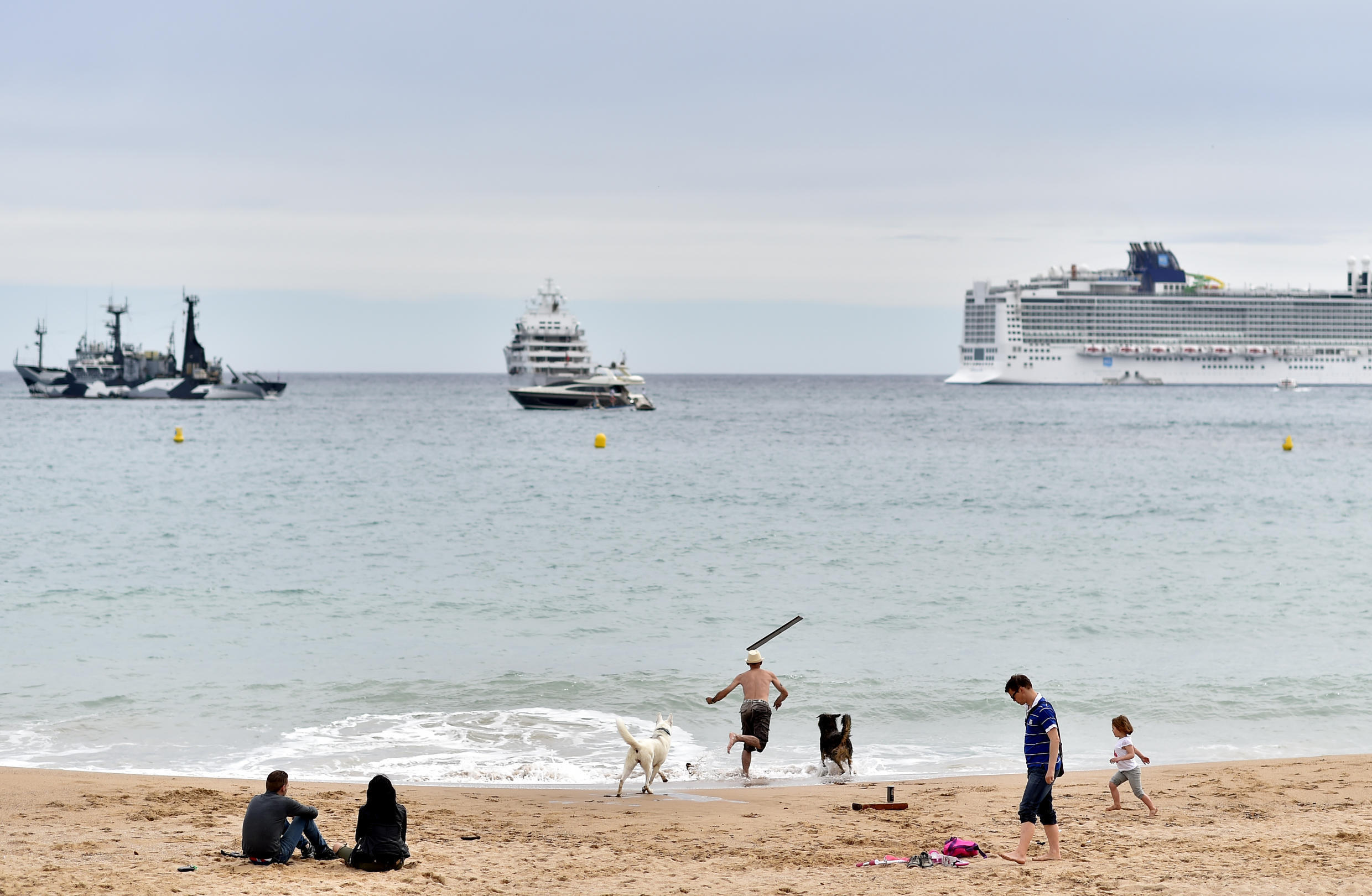 Villeneuve-Loubet became the second French Riviera town after Cannes (seen in the file picture) to ban burkinis from its beaches.