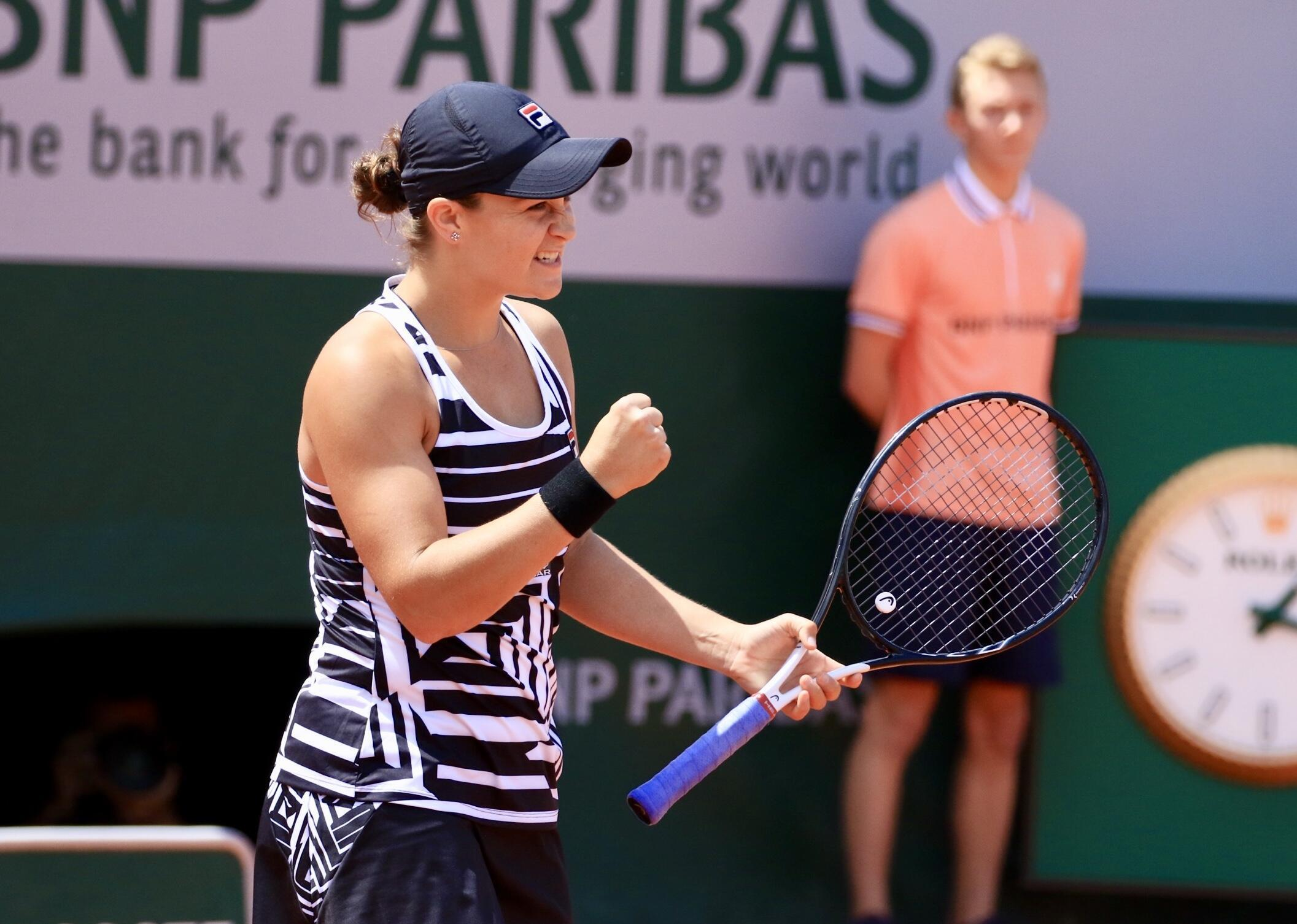 Ashleigh Barty reached her first Grand Slam final after beating the unseeded American Amanda Anisimova.