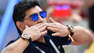 Diego Maradona lors du Mondial en Russie, le 30 juin 2018 à Kazan