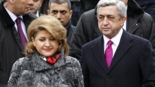 Серж Саргсян с супругой Ритой , 18 февраля 2013