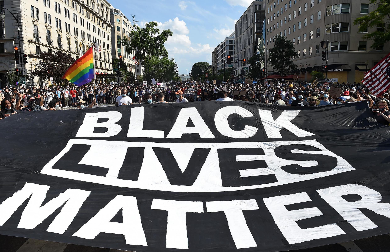 Manifestation «Black Lives Matter» à Washington, près de la Maison Blanche.
