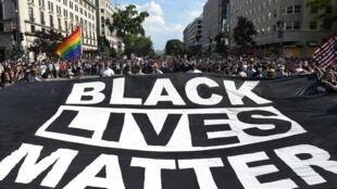 Manifestation «Black Lives Matter» à Washington, près de la Maison Blanche, le 6 juin 2020.