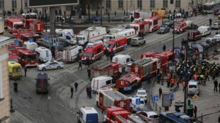 Explosões no metro de São Petersburgo, Rússia 03.04.2017