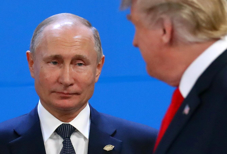 Владимир Путин и Дональд Трамп, 30 ноября 2018