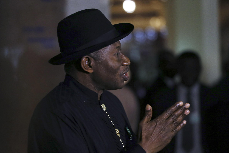 Rais wa Nigeria, Goodluck Jonathan, Mei 9 mwaka 2014.