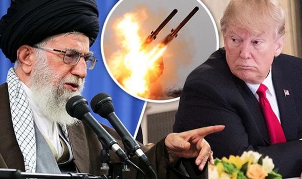 伊朗最高領袖哈梅內伊與美國總統特朗普示意圖