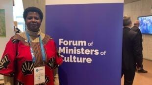 Ministra da Educação e Desenvolvimento Humano moçambicana, Conceita Sortane, na Unesco