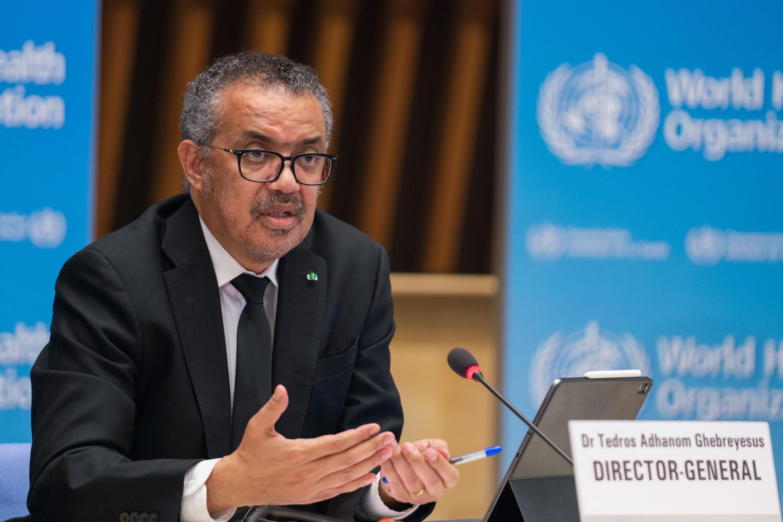 El director general de la OMS, Tedros Adhanom Ghebreyesus, el 12 de febrero de 2021 en Ginebra