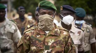 El coronel Assimi Goïta, el 18 de septiembre de 2020 en Bamako, Mali