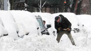 Tuyết tại New York. Hoa Kỳ. Ảnh chụp ngày 19/02/2021.