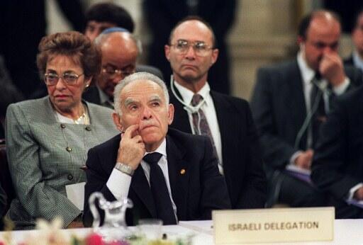O ex-premiê israelense Yitzhak Shamir.
