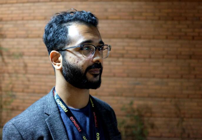 Amil Shivji, réalisateur tanzanien du film « T-Junction », au Fespaco 2019.
