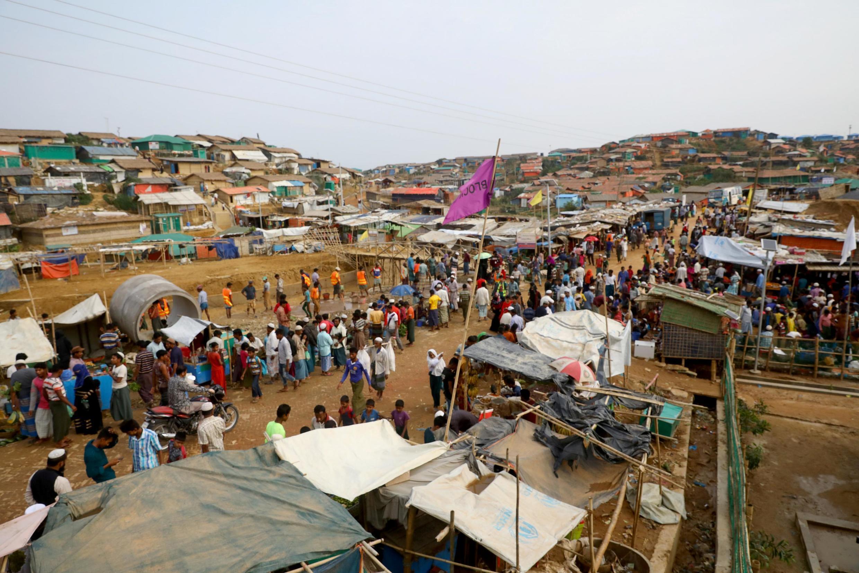 Ảnh tư liệu: Khu chợ của người tị nạn Rohingya trong trại tập trung ở Cox's Bazar, Bangladesh, ngày 07/03/2019