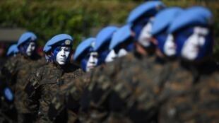 Des militaires guatémaltèques pendant une cérémonie à Campo Marte, à Guatemala, le 15 janvier 2016.