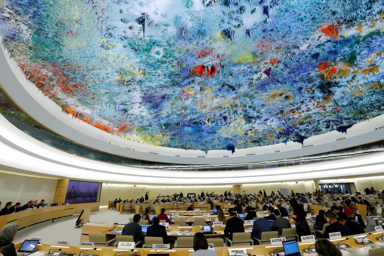 A 36a sessão do Conselho dos direitos humanos das Nações Unidas em Genebra, 19 de Setembro de 2017.