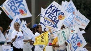 Partidarios del candidato del PAN Francisco Vega, en Tijuana, este 3 de julio de 2013.
