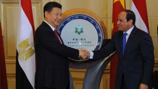 رؤسای جمهوری چین و مصر در قاهره