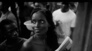 Nana Oforiatta Ayim au Chale Wote Street Art Festival d'Accra au Ghana en 2015.