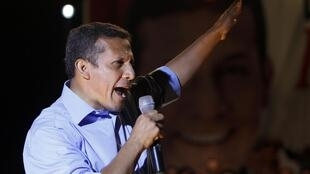 El candidato presidencial nacionalista Ollanta Humala.