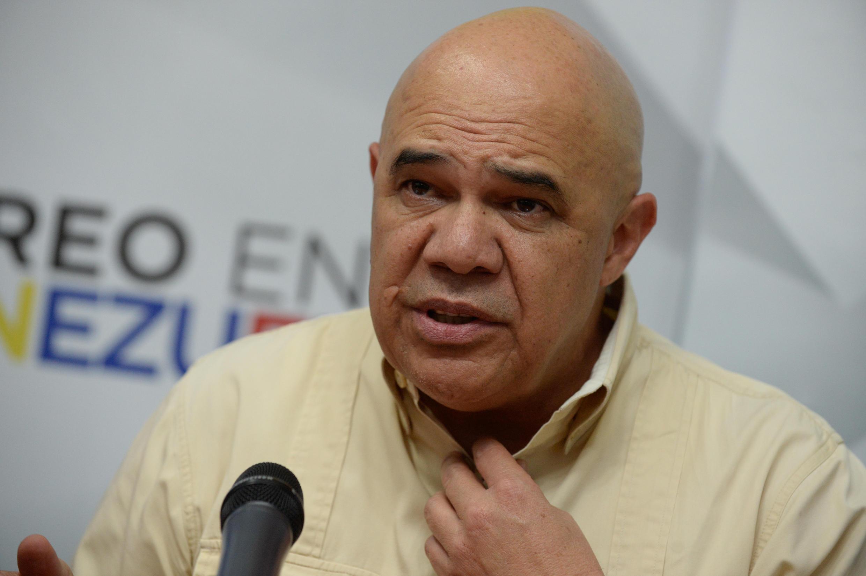 Jesús 'Chúo' Torrealba, el secretario ejecutivo de la coalición opositora Mesa de la Unidad Democrática.