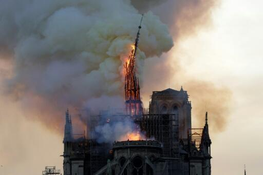Notre-Dame lost its gothic spire, roof and many precious artefacts in the fire, which swept through the roof of the famed cathedral in central Paris on April 15, 2019.