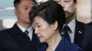 Cựu tổng thống Hàn Quốc Park Geun Hye. Ảnh chụp ngày 30/03/2017.