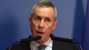 O  Procurador François Molins durante a conferência  de imprensa .Paris 21 de Abril de 2017
