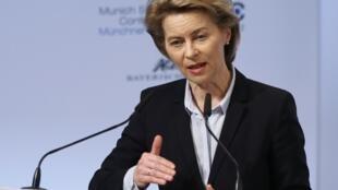 Bộ trưởng Quốc Phòng Đức Ursula von der Leyen, phát biểu nhân Hội nghị An ninh Munich, ngày 16/02/2018.