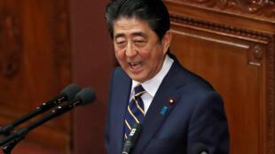 Thủ tướng Nhật Shinzo Abe đọc diễn văn tại Quốc Hội, ngày 28/01/2019.