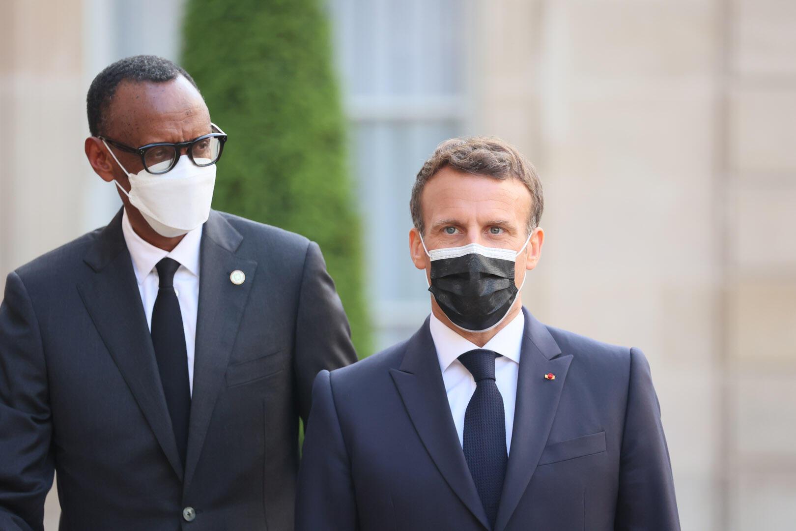 France - Élysée - Emmanuel Macron - Paul Kagame - MACRON-KAGAME_PRW_4071