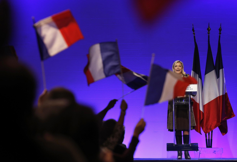 Marine Le Pen, líder do partido de extrema-direta, Frente Nacional.