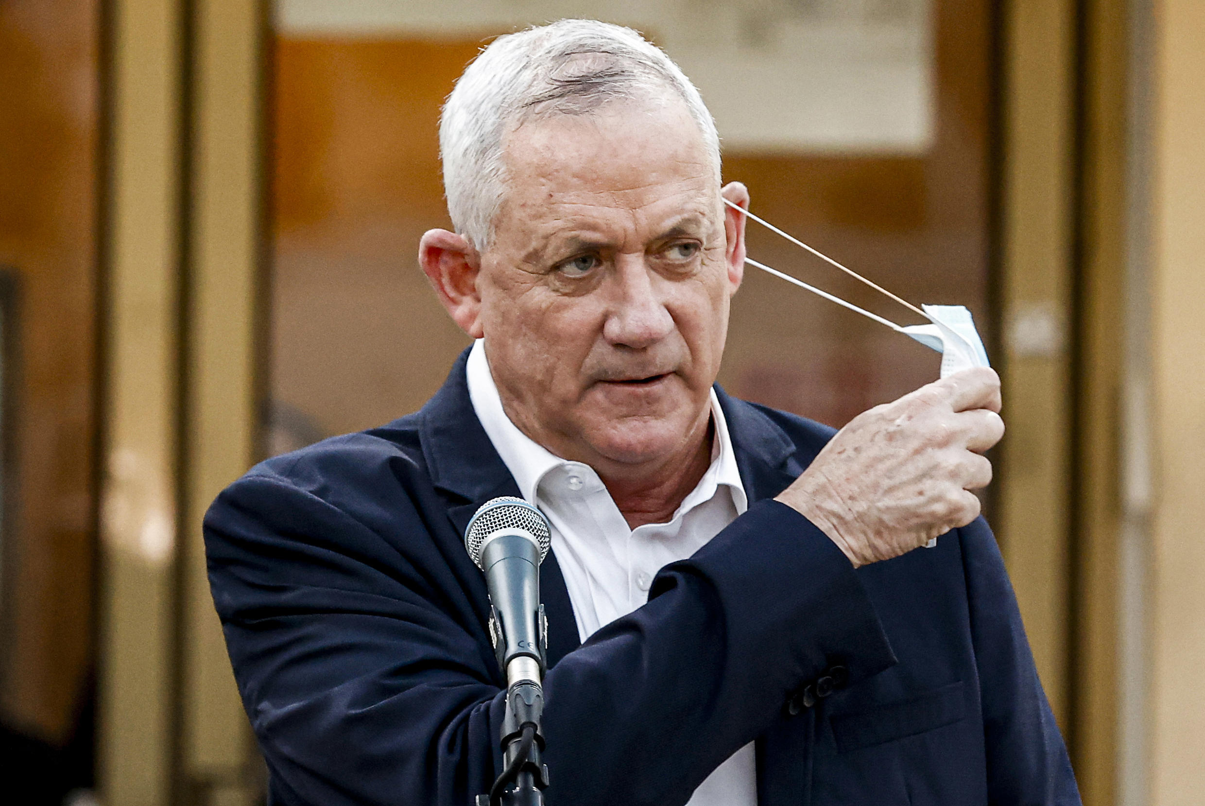 """Israel's Alternate Prime Minister and Defence Minister Benny Gantz has accused Prime Minister Benjamin Netanyahu of being a """"serial promise-breaker"""""""