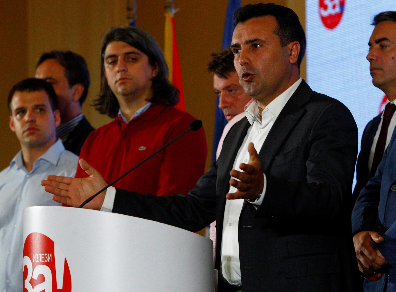 Thủ tướng Macédonia Zoran Zaev phát biểu tại Skopje, ngày 30/09/2018, sau khi có kết quả trưng cầu dân ý về đổi tên nước.